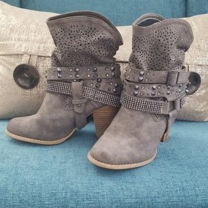 Not Rated - Gray Ankle Boots